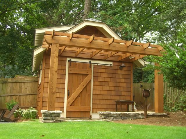 backyard retreat in town Atlanta craftsman-landscape