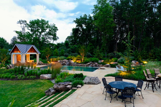 Backyard Retreat Transitional Landscape Dc Metro