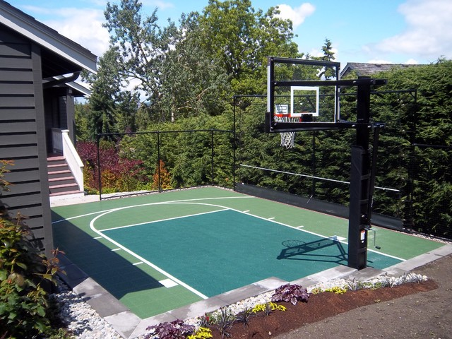 Backyard sport court traditional seattle by sport for Backyard sport court ideas