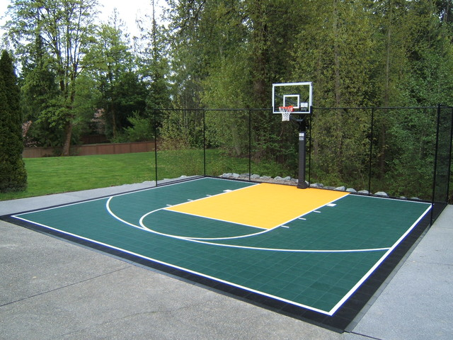 Backyard Sport Court Traditional Landscape Seattle