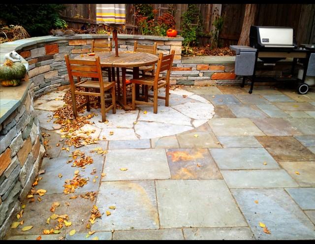 Backyard Stone Patio Paradise In St Louis Park Minnesota