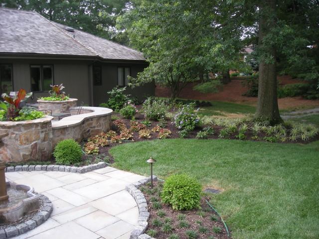 Backyard Terraced Vegetable Garden : Backyard Terrace and Vegetable Garden traditionallandscape