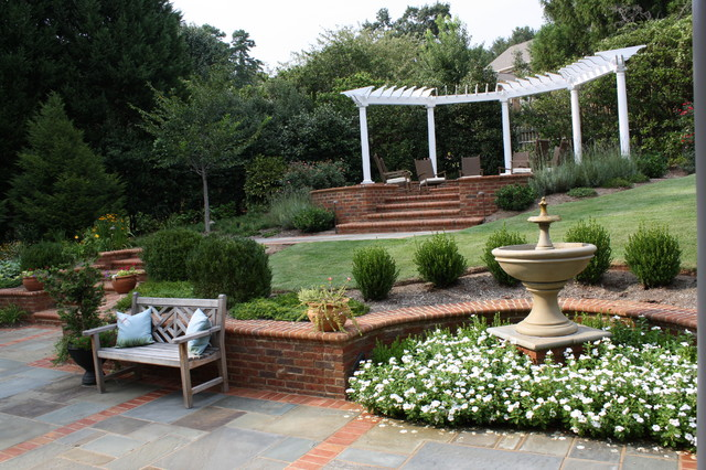 Backyard Terraces traditional-landscape
