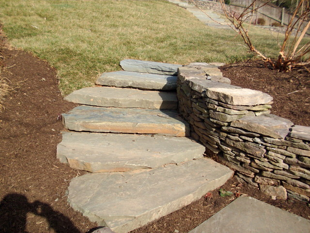 backyard terraces patio and steps landscape dc metro by grigg