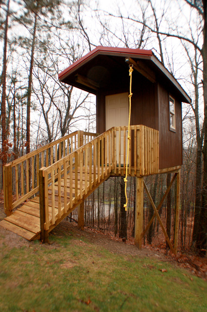 backyard tree house eclectic kids other metro by