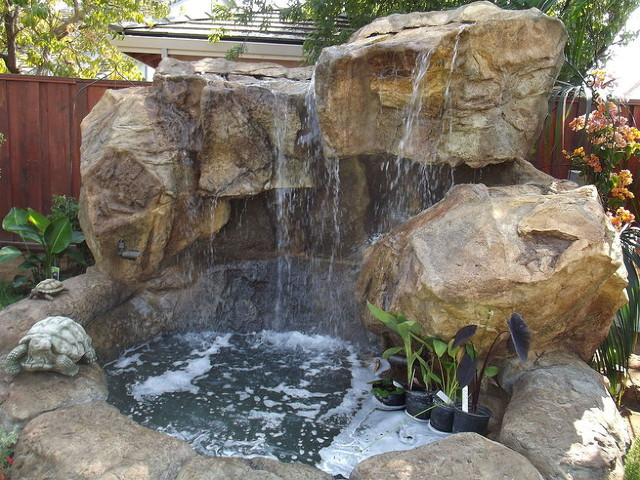Backyard water features nh waterfalls nh grottoes nh Backyard water features