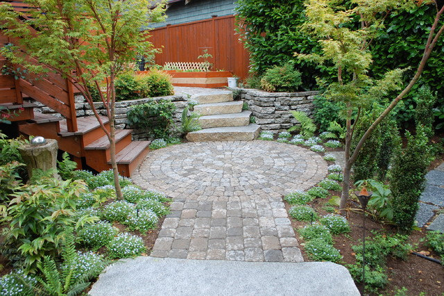 Backyard zen for Paving stone garden designs