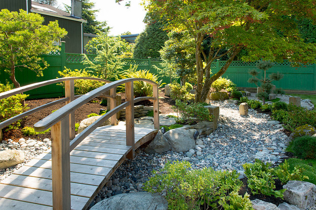Design ideas for an asian landscaping in Vancouver. - Backyard Zen Garden - Asian - Landscape - Vancouver - By Paeonia Gardens