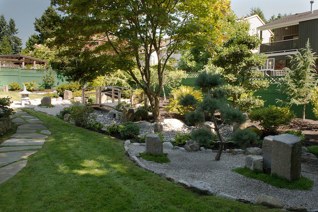 Backyard Zen Garden Asian Landscape Vancouver by Paeonia