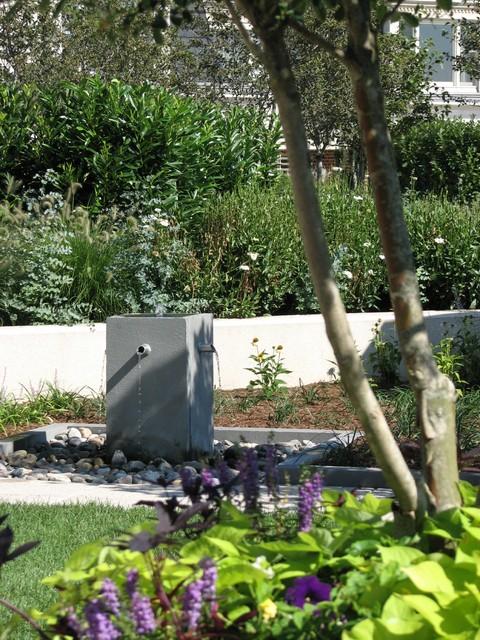 Baltimore roof top terrace modern landscape for Plusen landscape architects