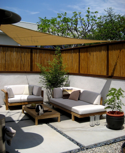 bamboo fence patio asian landscape