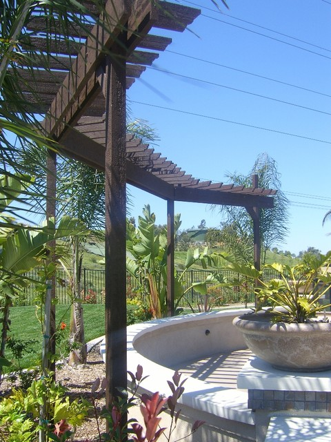 Barbeque Structures, Patio Structures,Firepits mediterranean-landscape