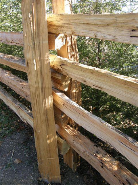 Split Rail Fence Landscaping