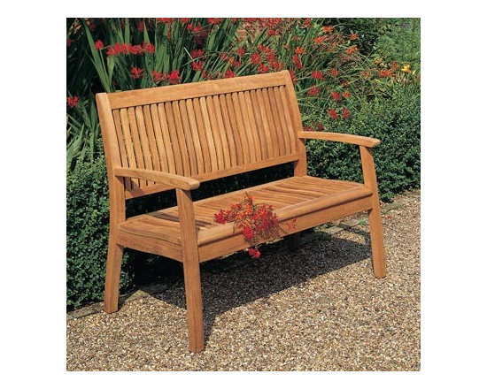 Barlow Tyrie - Barlow Tyrie Monaco 4' Bench, - Barlow Tyrie manufacturers an extensive range of outdoor furniture crafted from teak, all-weather wicker, stainless steel and aluminum. Their traditional and contemporary designs include deep seating chairs, dining chairs, tables, steamers, benches and swing seats.