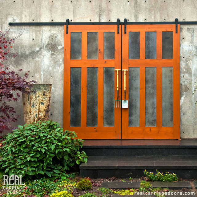 Barn Doors on a Garden Space - Eclectic - Landscape - Seattle - by ...