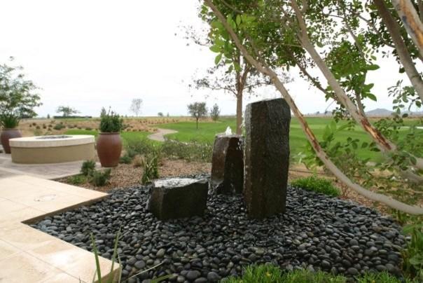Basalt Column Feature Contemporary Landscape Phoenix