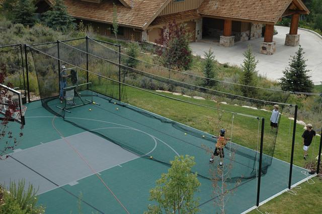 batting cages traditional landscape