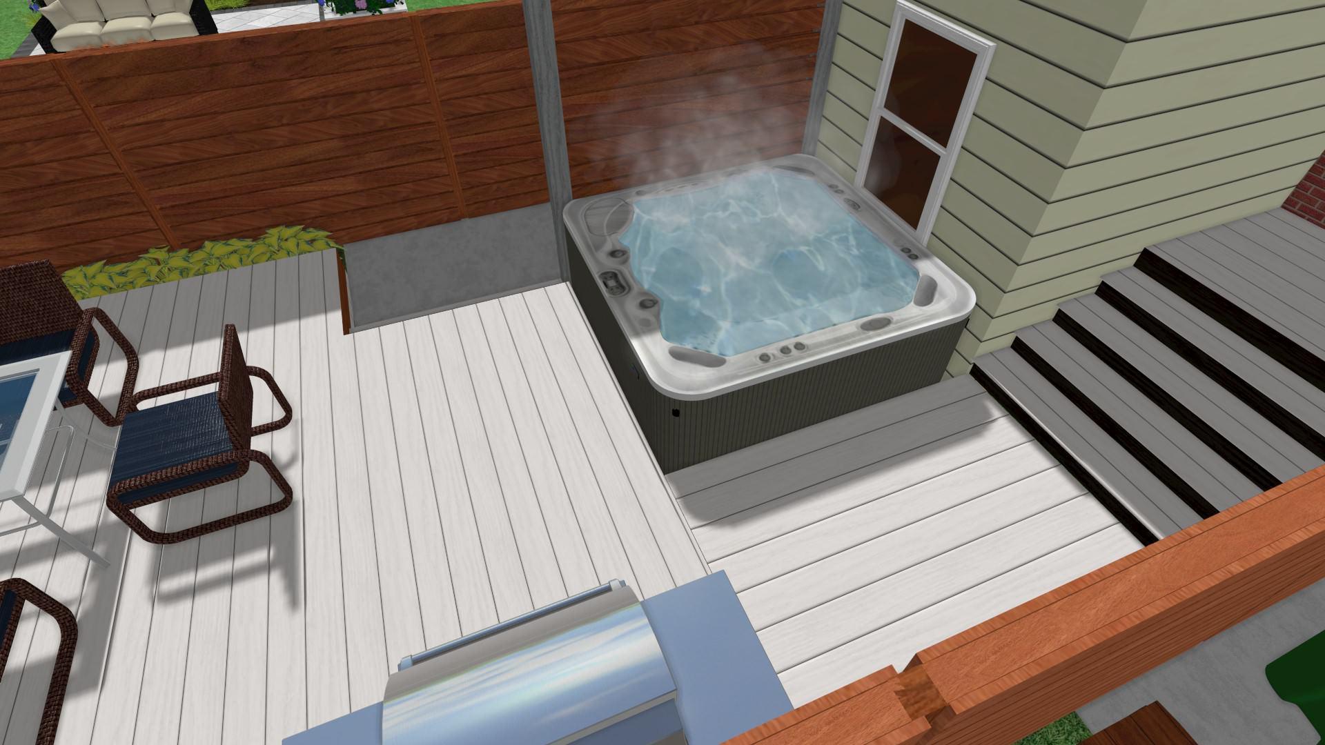 Beach Contemporary Hot Tub
