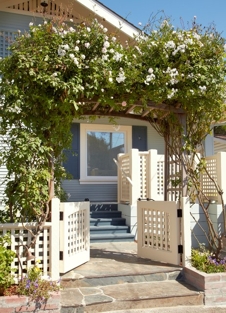 Beach Cottage Renovation for Aging in Place beach-style-landscape