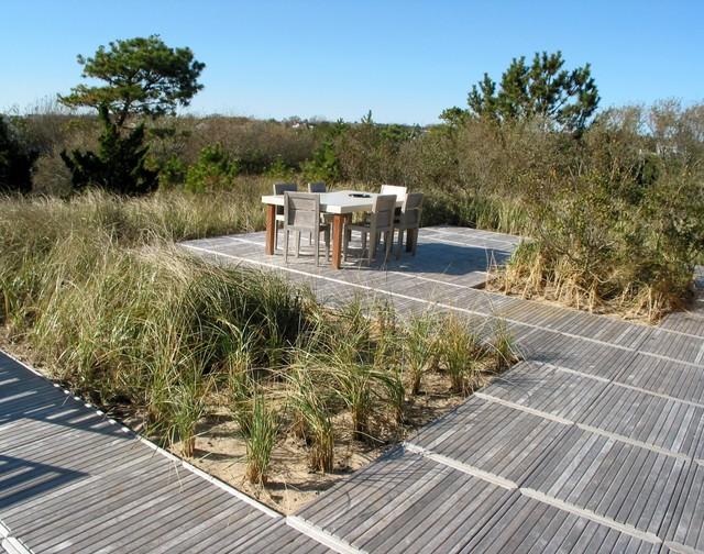 Beach house modern landscape new york by adrian for Beach house landscape design