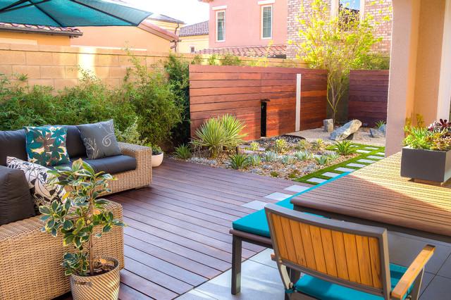 Modern Small Backyard Designs : Beautiful Small Space Backyard Design  Contemporary  Landscape