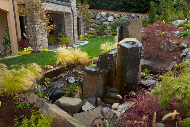 Bellevue Water Feature Design Contemporary Landscape Seattle