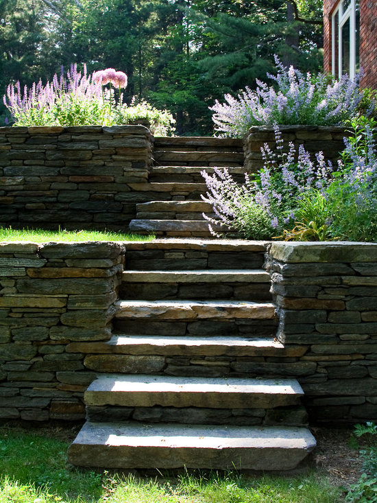 Landscaping Wall Steps : Steps retaining wall home design ideas pictures remodel and decor