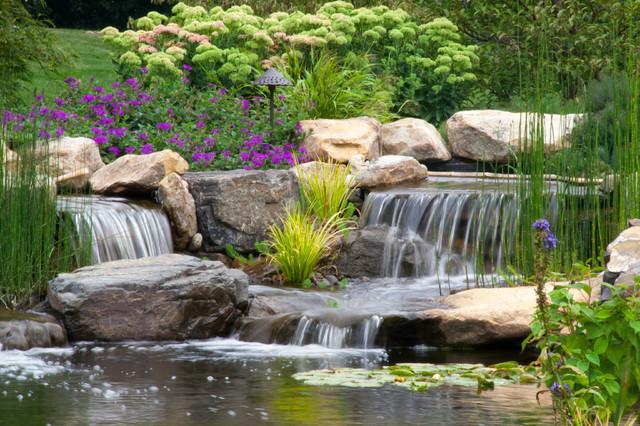 Berks County, PA Pond & Waterfalls traditional-landscape