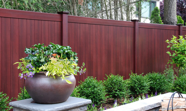 Best new fence idea is illusions mahogany pvc vinyl