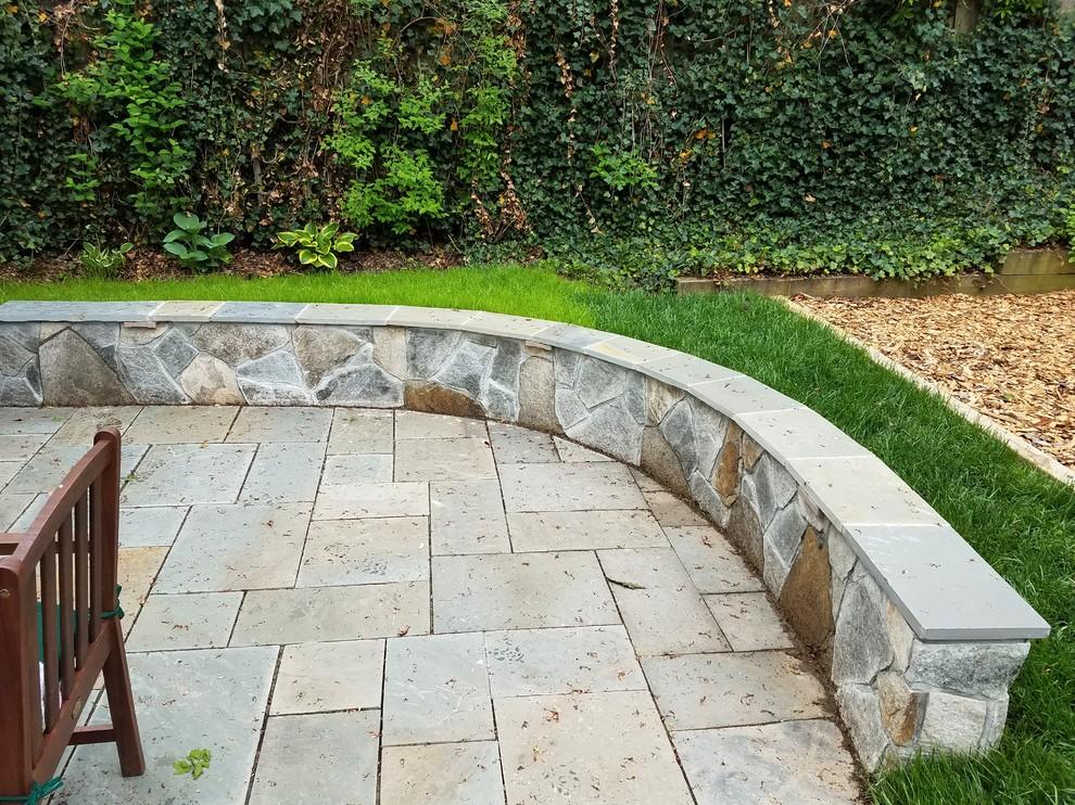 Bethesda Dry Laid Flagstone Patio American Traditional Garden