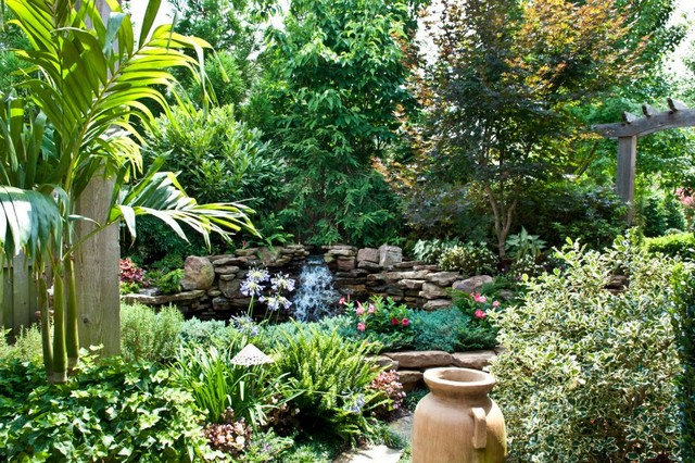 Big ideas in small spaces traditional landscape nashville by gurley 39 s azalea garden - How to create a garden in a small space image ...
