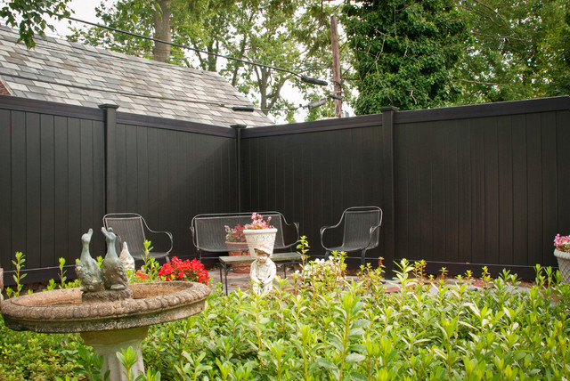 ... Decorative Garden Fence Panels Gates By Black Vinyl Pvc Privacy Fencing  Panels From Illusions ...