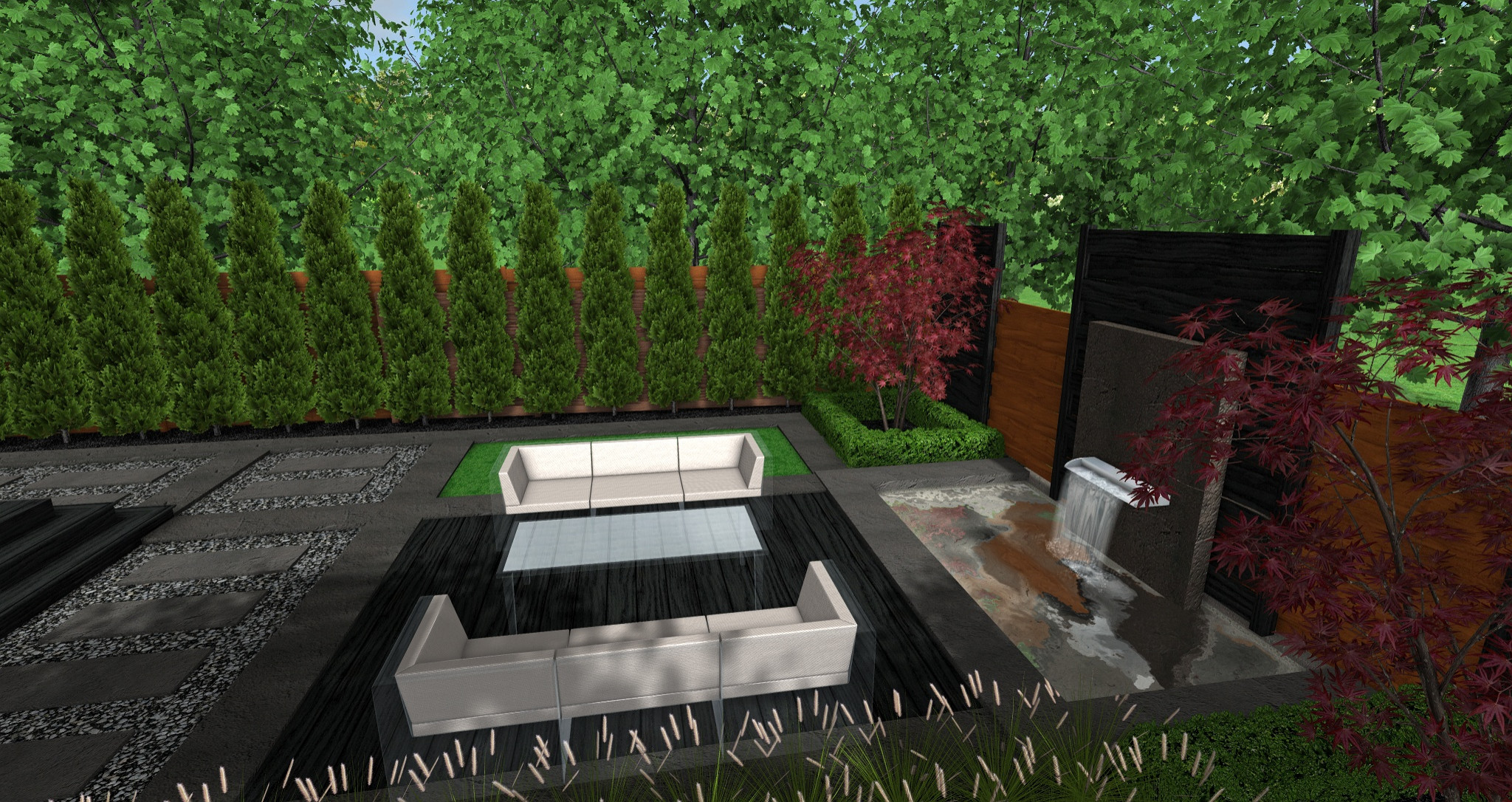 Bloor West Village Contemporary Backyard