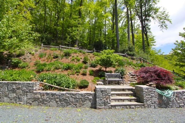 Blowing rock remodel rustic landscape charlotte by for Landscaping rocks charlotte nc