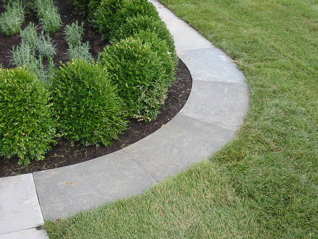 bluestoen garden edging contemporary landscape