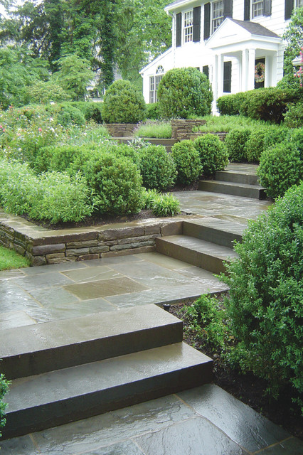 Bluestone Entry Walkway Traditional Landscape New