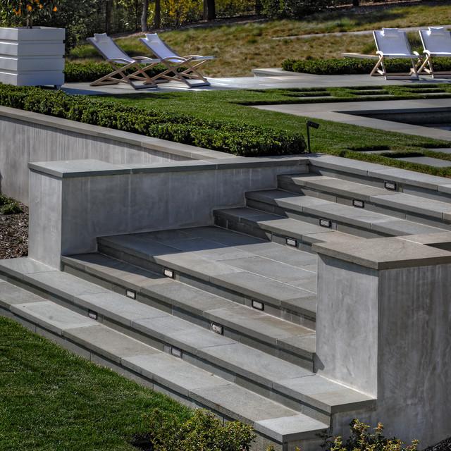 Bluestone Stairs Modern Garden San Francisco By