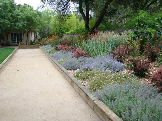 Bocce ball courts mediterranean landscape san for 50ft garden design