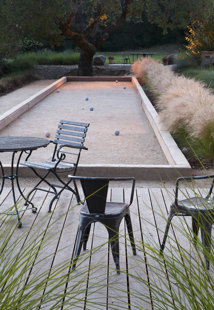 Bocce Court contemporary patio