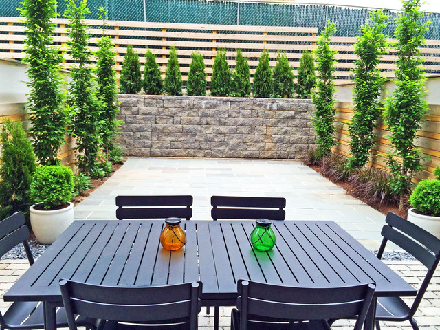 Boerum Hill Brooklyn Townhouse Backyard Bluestone Patio