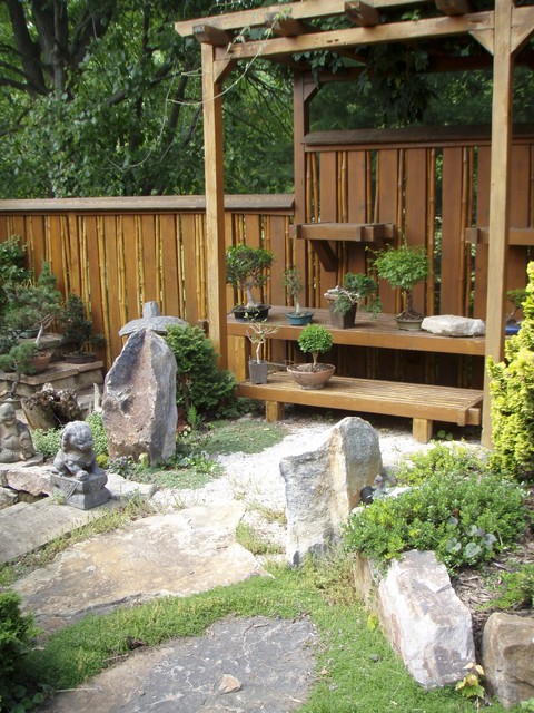 Backyard Bonsai Display : Bonsai Display Garden  Asian  Landscape  baltimore  by Garden