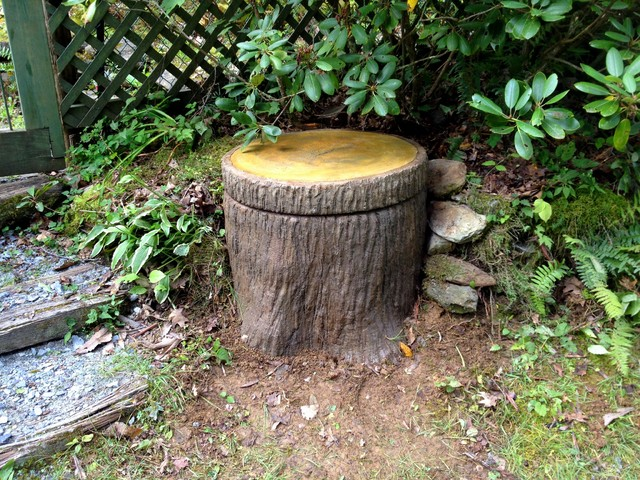 boone tree stump well pump cover rustic garden charlotte by hand stone construction. Black Bedroom Furniture Sets. Home Design Ideas