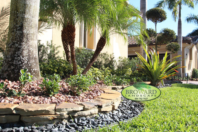 Border tropical landscape miami by broward for Landscaping rocks broward county