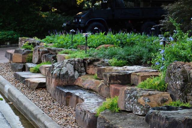 Landscaping Boulders Houston : Boulder bungalow midcentury landscape houston