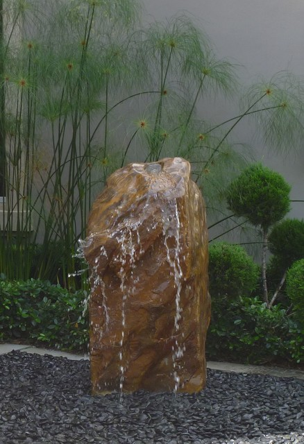 Boulder Fountains Contemporary Landscape Miami By