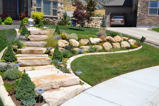 Boulder Mountain Stone Steps Traditional Landscape