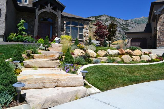 Boulder Mountain Stone Steps Traditional Landscape