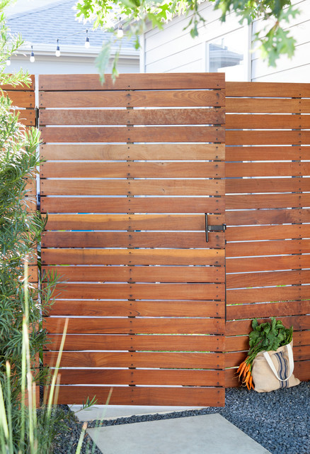 Brazilian Hardwood Gate contemporary-landscape