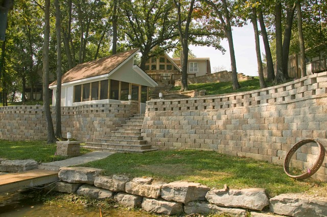 Breathtaking Retaining Wall And Paving Project At Lake
