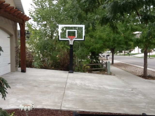 Brian J's Pro Dunk Gold Basketball System on a 30x18 in N. Logan, UT - Traditional - Landscape ...